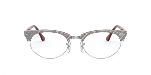 Ray-Ban RX3946V - 8050 - Wrinkled Grey On Bordeaux - 50 mm